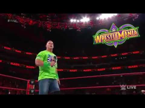 Download John Cena wants the Undertaker Return for one more match at Wrestlemania 34 ---Raw ,March 12, 2018