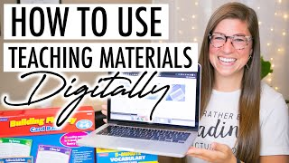 3 Ways to Use Physical Teaching Materials ONLINE