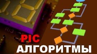 33. Знакомство с алгоритмами при написания программ для PIC микроконтроллеров (Урок 28. Теория)