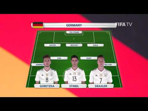 Match 8 Germany v Chile -Team Lineups - FIFA Confederations Cup 2017
