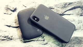 Black Apple Silicone Case ||iPhone X