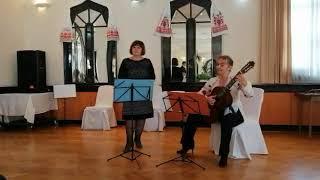 """Укр. нар. пісня """"Ой, у вишневому садку"""", виконує А. Цацовіч (вокал) і В. Куликовська (гітара)"""
