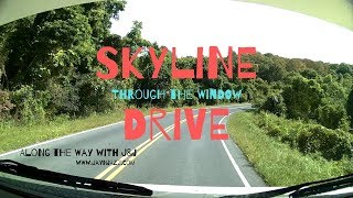🏞 Skyline Drive - Shenandoah National Park - Through the Window