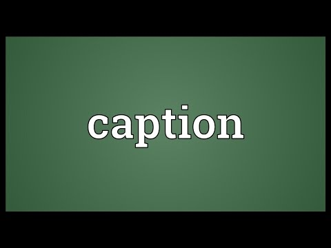 Caption Meaning