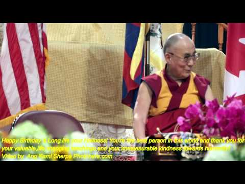 A prayer for His Holiness, the 14th Dalai Lama's long life