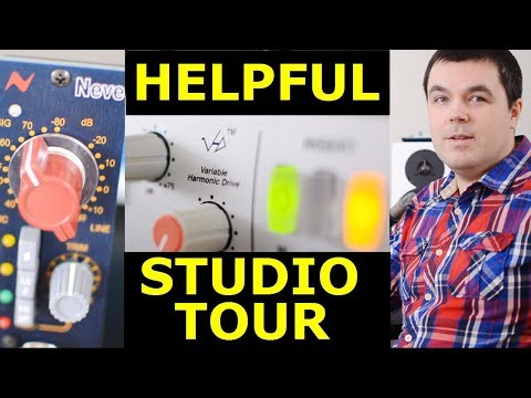 Studio Tour - SSL, Neve, UAD, Rode, Yamaha THR10, NI, DynAudio, Focusrite, Gibson, Softube (2018)