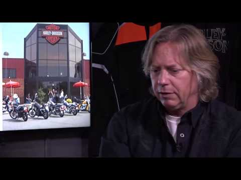 Lyndon Abell of Rommel Harley-Davidson with Pat Goss on the Harley