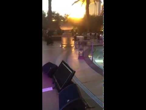 DJ and karaoke  at the Pallazzo Pool for Nike Executive Party
