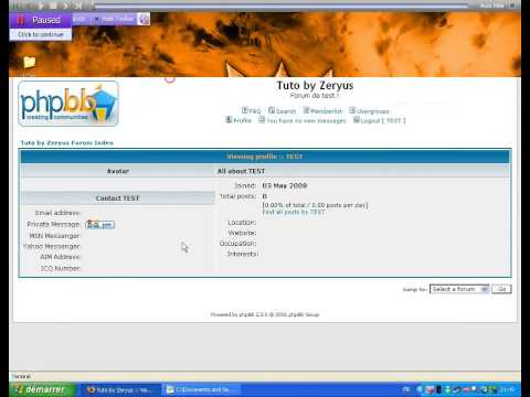 Pirater un forum PHPBB v2.0.0 - By Zeryus