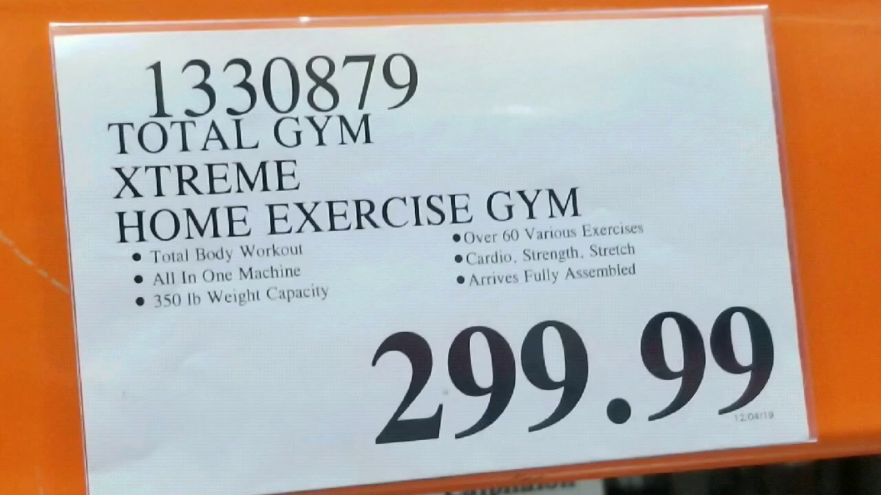 Costco! Total Gym Xtreme Home Exercise Gym $299 – Sterling