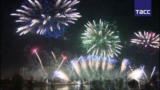 Яркие кадры III Международного фестиваля фейерверков в Москве