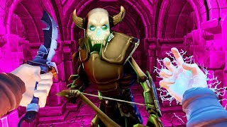 BLASTING and STABBING MONSTERS in VR Dungeon Knight!