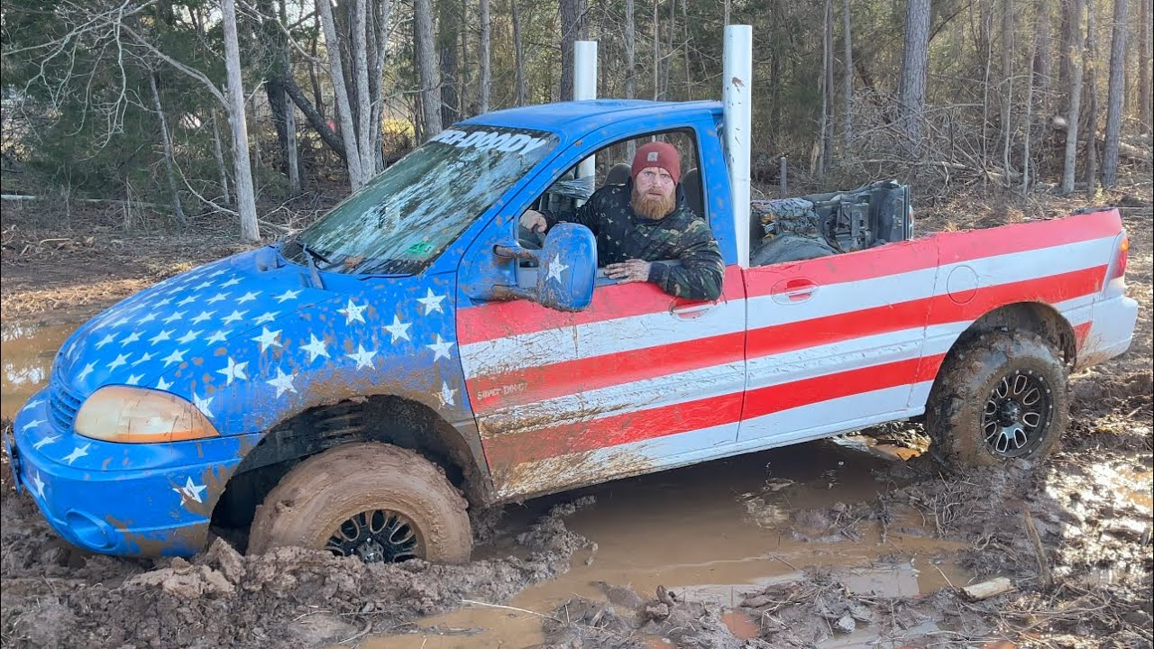 I got the F-2FITTY stuck in the mud!