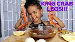 SEAFOOD BOIL MUKBANG - KING CRAB LEGS WITH BLOVE SAUCE!!!