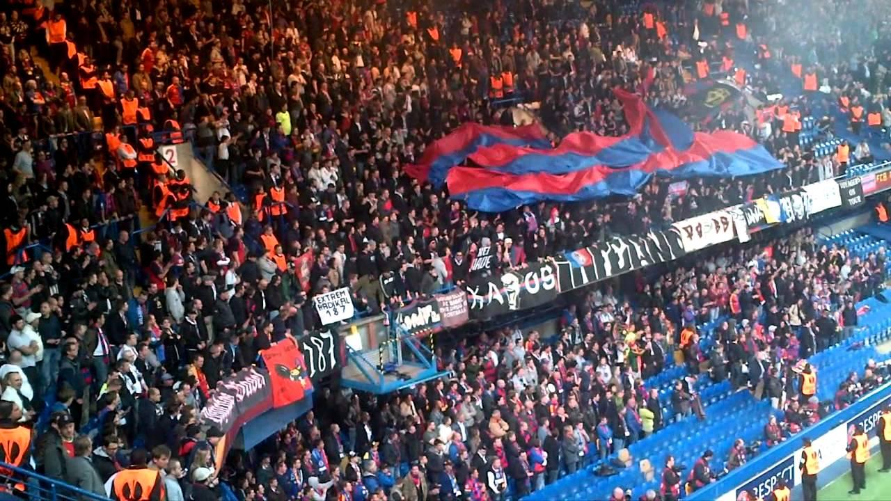 Fc Basel Fans At Stamford Bridge Europa League Semi Final 2013 Youtube