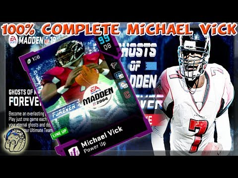 99 GHOST OF MADDEN FOREVER MIKE VICK BUILD COMPLETE 100% Madden 19 Ultimate Team