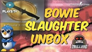 BOWIE KNIFE SLAUGHTER UNBOX w TrilluXe! CSGO Case Opening