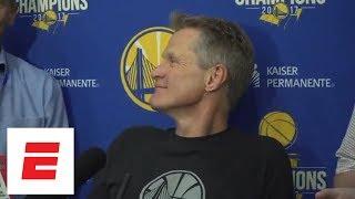 Steve Kerr on Game 2 against Rockets: