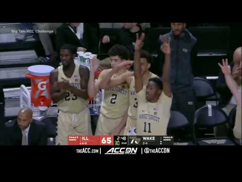 Illinois vs Wake Forest College Basketball Condensed Game 2017