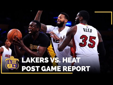 Lakers Crush Miami Heat, Luol Deng Has Best Game As A Laker