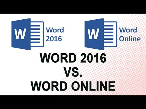 Microsoft Word 2016 vs. Word Online NO  ADS
