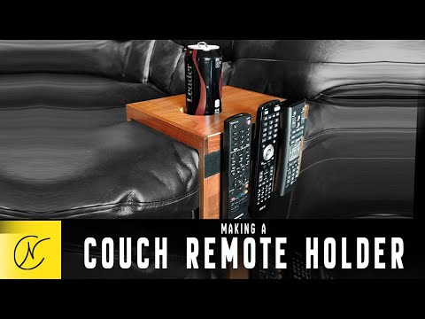 Making A Couch Remote Holder