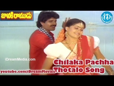 Chilaka Pachha Thotalo Song - Janaki Ramudu Movie Songs - Nagarjuna - Vijayashanti - Jeevitha