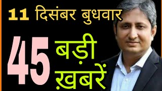 Latest Breaking News, Today's 45 Short Breaking News in Hindi | Yogi Jharkhand Ram Mandir, 11 Dec.