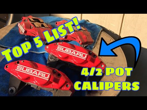 Subaru DiY | 4/2 Pot Calipers - TOP 5 Reasons To Upgrade