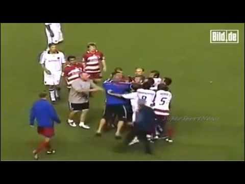 David Beckham Choking Opponent Player