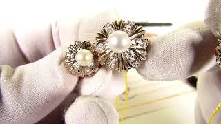 EliteGold - комплект с жемчугом серьги, кольцо и кулон (полный обзор)