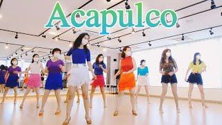 Acapulco Line Dance Demo|초급|Ja…