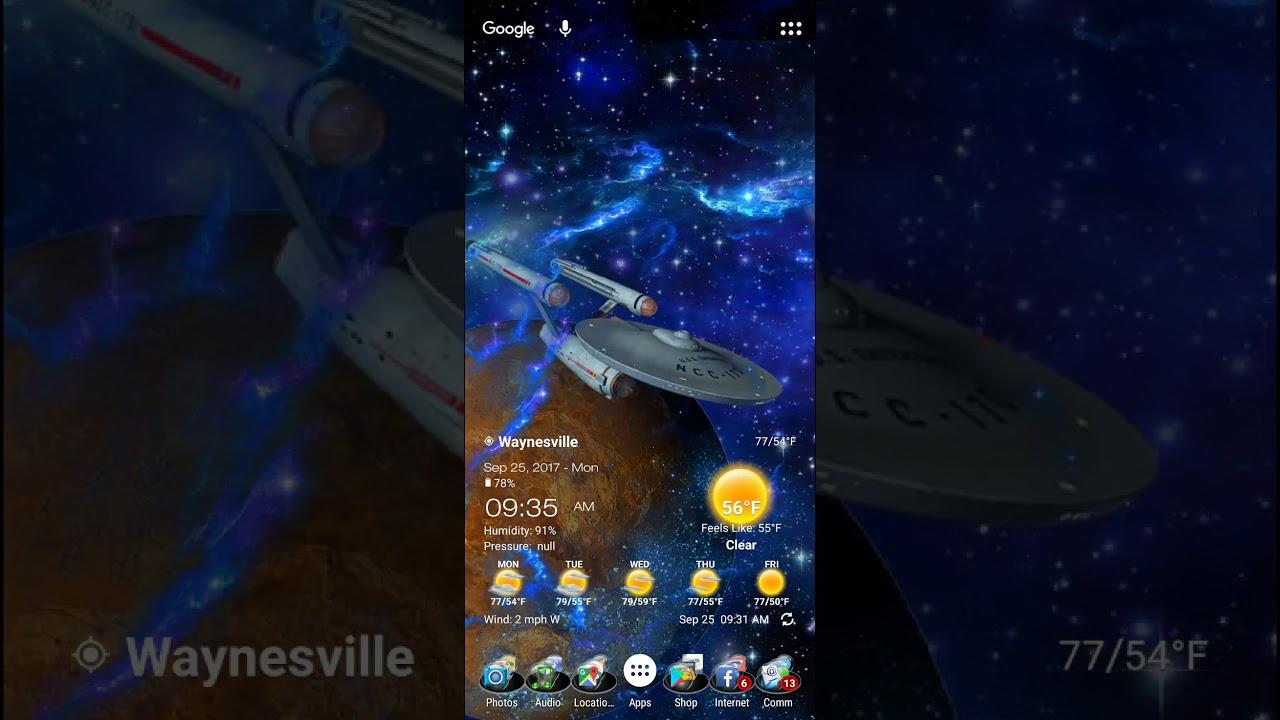 NOTE 8 Parallax Star Trek Wallpaper