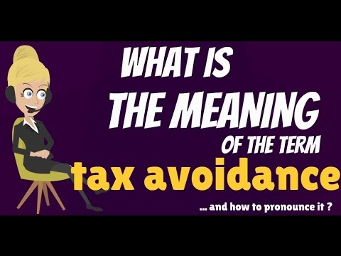 What is TAX AVOIDANCE? What does TAX AVOIDANCE mean? TAX AVOIDANCE meaning, definition & explanation