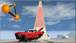 BeamNG Drive Extreme Suspension Testing Crashes on New Speed Bump Hill