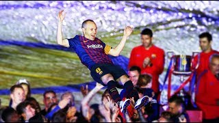 Andres Iniesta bids farewell to FC Barcelona