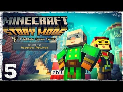 Смотреть прохождение игры Minecraft Story Mode. #5: Город гриферов.