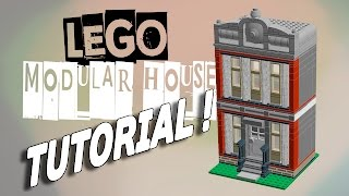 LEGO Modular house MOC building TUTORIAL !