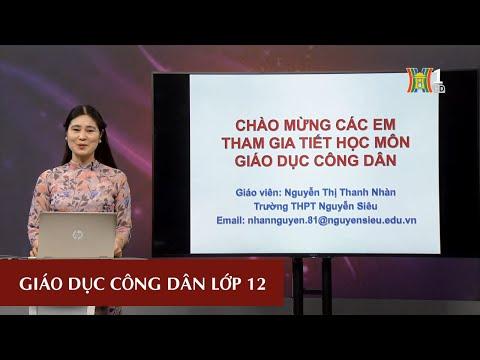 MÔN GDCD - LỚP 12   CÔNG DÂN VỚI CÁC QUYỀN DÂN CHỦ   16H00 NGÀY 17.3.2020