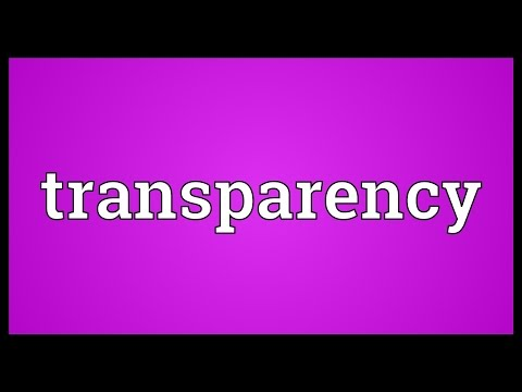 Transparency Meaning