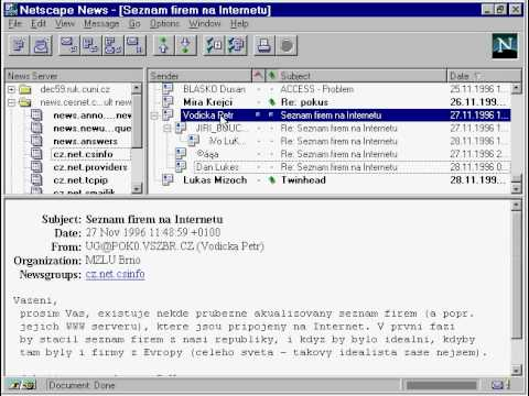 Netscape NetNews in 1996