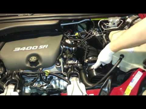 1998 Pontiac Trans Sport Montana 3400 Replace Air Filter Clean Air Sensor  YouTube