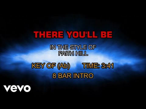 faith-hill---there-you'll-be-(karaoke)