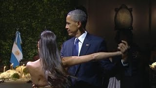 Pres. Obama does the tango at Argentina state dinner