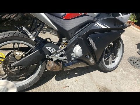 Yamaha YZF R125 Stock Exhaust Modification EXTREME LOUD