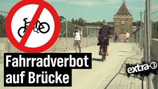 Realer Irrsinn: Teuer sanierte Brücke in Esslingen für Radfahrer gesperrt