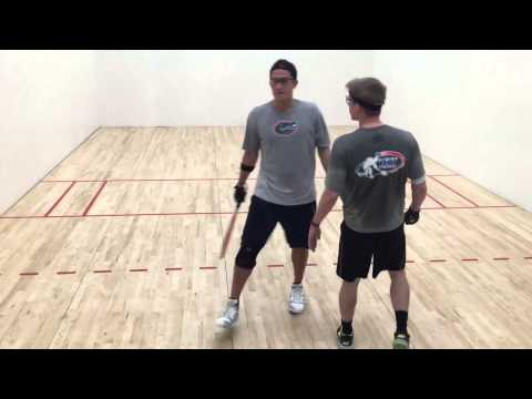 John Goth vs Jonathan Burns Racquetball game
