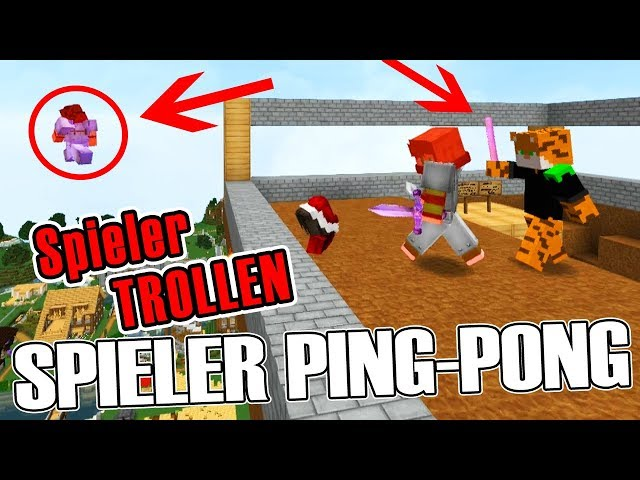 SPIELER PING-PONG TROLL! - Minecraft SubServer mit Items   Earliboy
