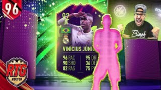 OMG I GOT 92 VINICIUS JUNIOR FUTURE STAR! FIFA 19 Ultimate Team RTG #96