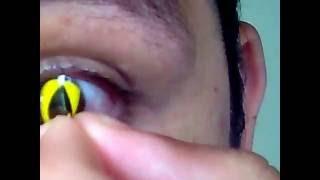 lente de contato olho de gato amarela yellow cat - Brazilentes